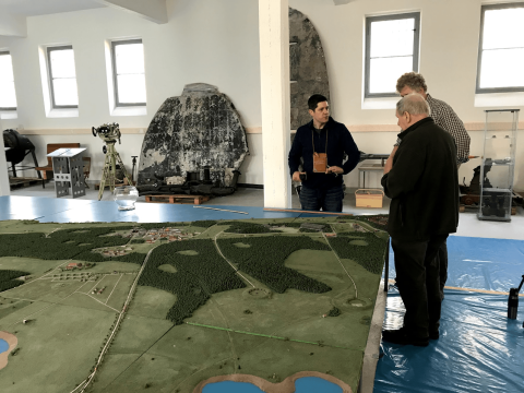 A model of the Peenemünde testing and production grounds from Reiner Sigmund's onsite museum