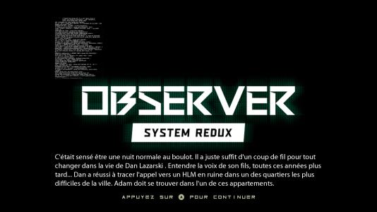 Observer System Redux (12)