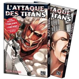 L'Attaque des Titans Pack découverte tome 1 et tome 2